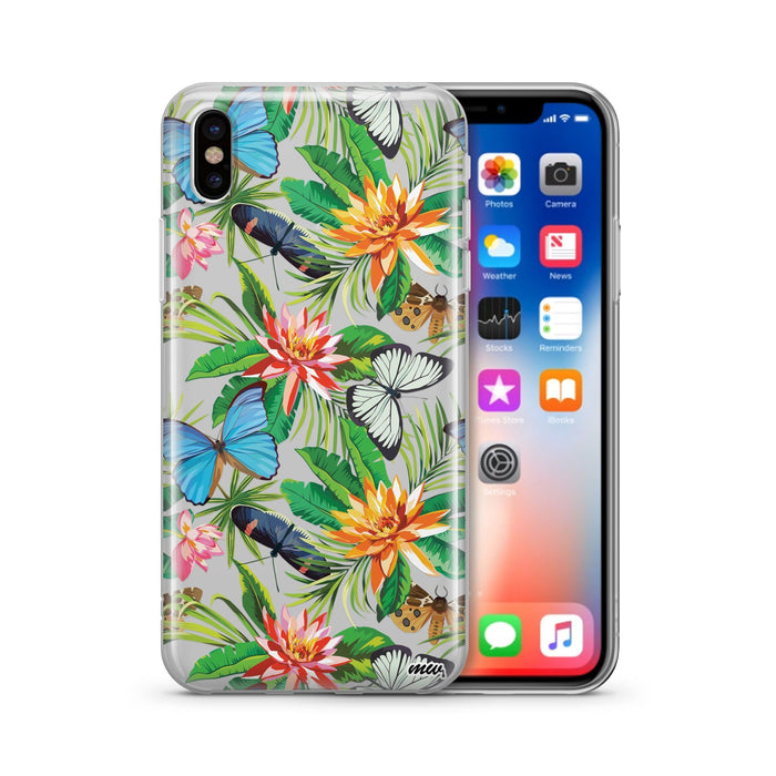 Tropical Butterfly - Clear TPU Case Cover
