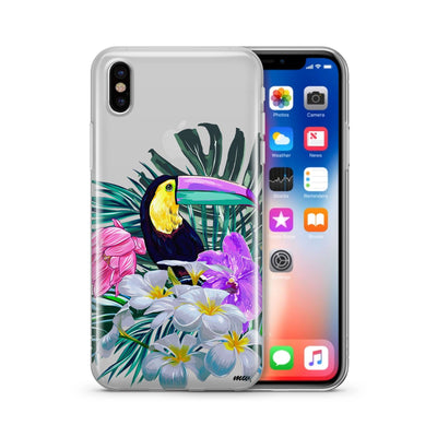 Toucan - Clear TPU Case Cover - Milkyway Cases -  iPhone - Samsung - Clear Cut Silicone Phone Case Cover