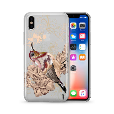 Vintage Sparrow - Clear TPU Case Cover - Milkyway Cases -  iPhone - Samsung - Clear Cut Silicone Phone Case Cover