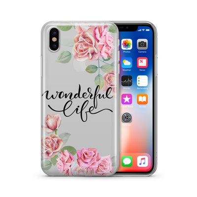 Wonderful Life  - Clear Case Cover - Milkyway Cases -  iPhone - Samsung - Clear Cut Silicone Phone Case Cover