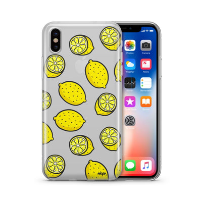 Yellow Lemon - Clear Case Cover - Milkyway Cases -  iPhone - Samsung - Clear Cut Silicone Phone Case Cover