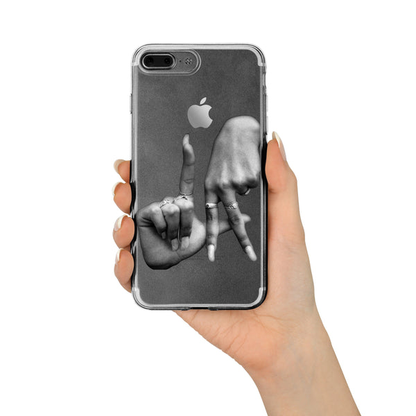 Estevan Oriol X Milkyway Cases - Clear TPU LA Fingers - Milkyway Cases -  iPhone - Samsung - Clear Cut Silicone Phone Case Cover