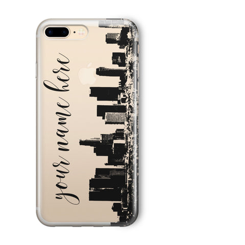 'Custom LA Skyline' - Clear TPU Case Cover
