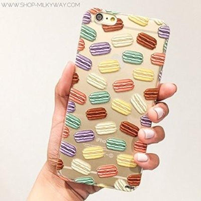 Macaron Pandemonium - Clear TPU Case Cover - Milkyway Cases -  iPhone - Samsung - Clear Cut Silicone Phone Case Cover