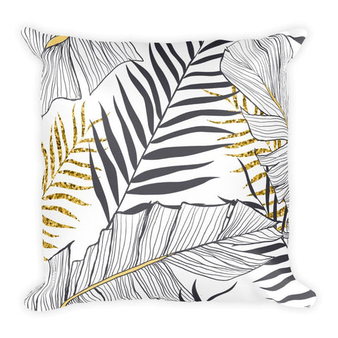 Elegant Tropical Square Pillow