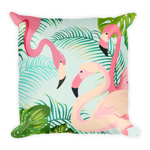 Tropical Flamingo Square Pillow