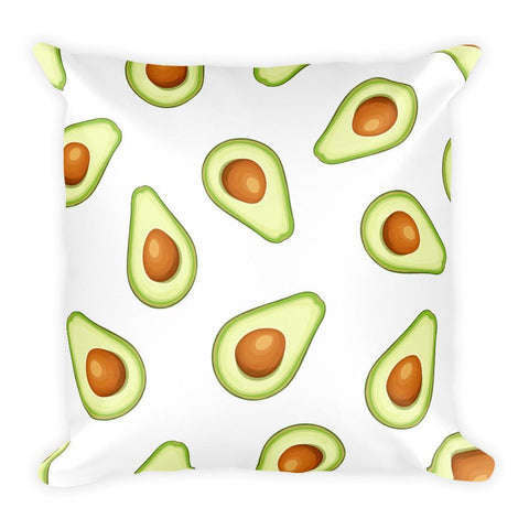 Avocado Emoji Square Pillow