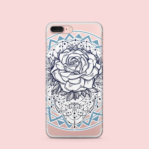 'Mystic Rose' - Clear TPU Case Cover