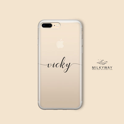 name on an iphone case