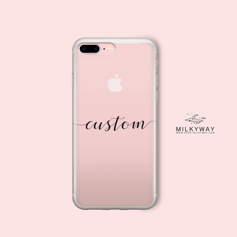 'Custom Name Case' - Clear TPU Case Cover