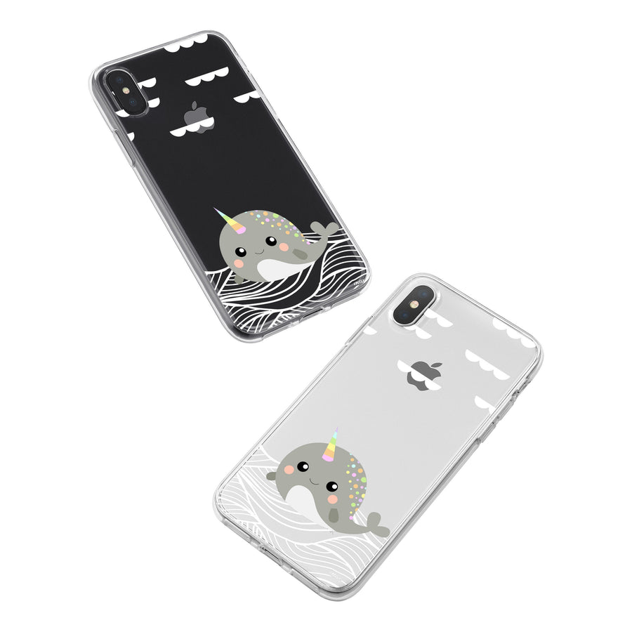 iPhone X Clear Case - Narwhal