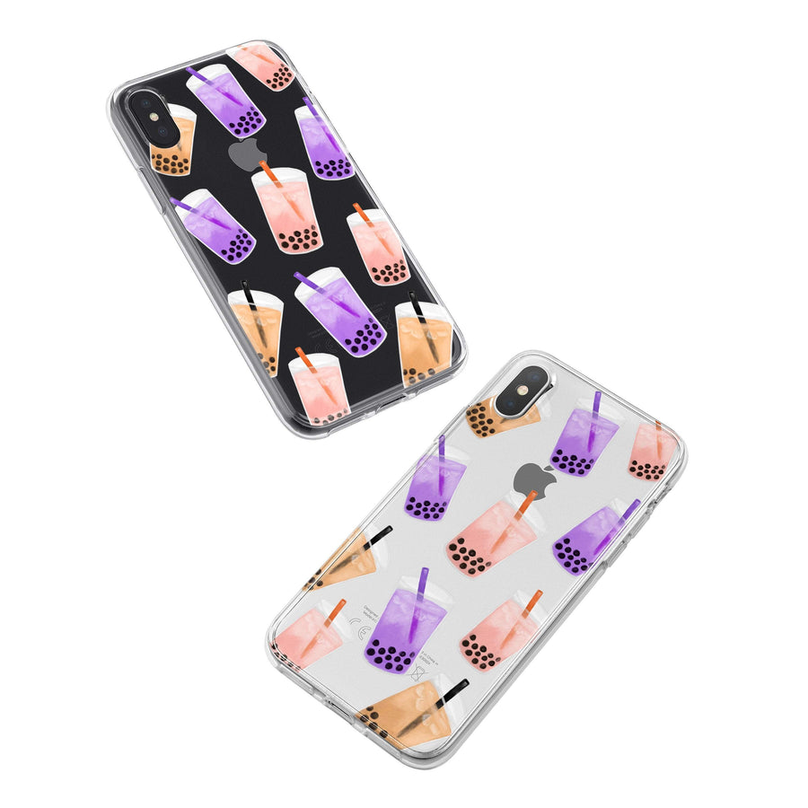 Boba Bubble Tea iPhone & Samsung Clear Phone Case Cover