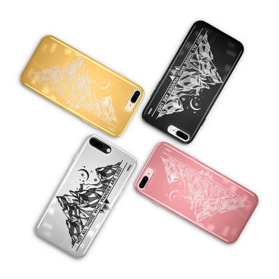 Chrome Shiny TPU Case - Nomad - Milkyway Cases -  iPhone - Samsung - Clear Cut Silicone Phone Case Cover