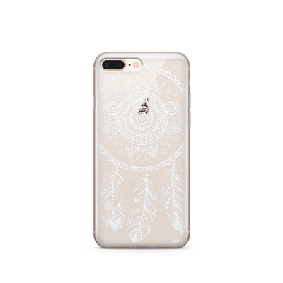 Henna Ojibwe Dreamcatcher - Clear TPU Case Cover Milkyway iPhone Samsung Clear Cute Silicone 8 Plus 7 X Cover