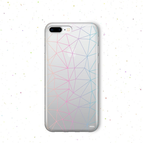 'Ombre Geo' - Clear TPU Case Cover