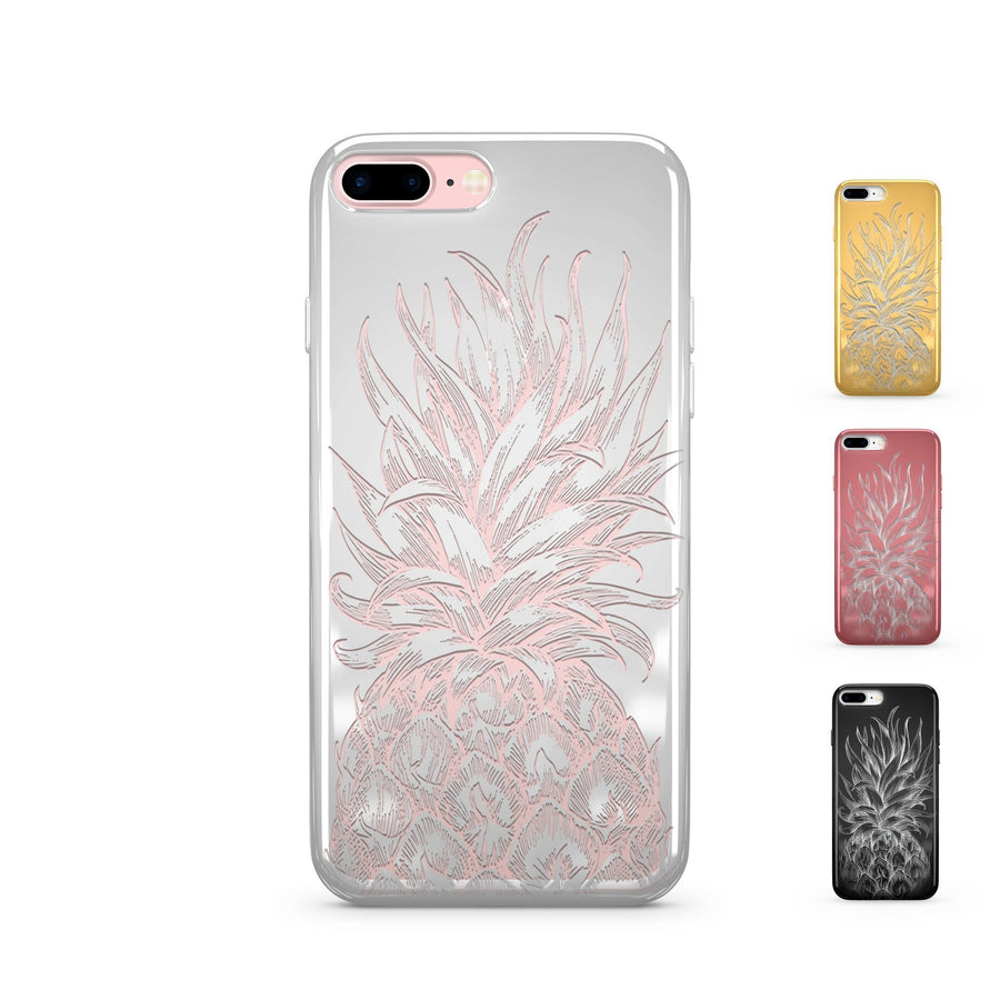 Chrome Shiny Pineapple Head iPhone Case