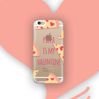 Pizza Is My Valentine - Clear TPU Case Cover - Milkyway Cases -  iPhone - Samsung - Clear Cut Silicone Phone Case Cover