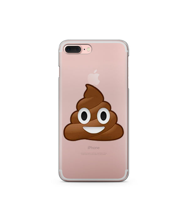"""CLEARANCE"" Poop Emoji - Clear Case Cover - Milkyway Cases -  iPhone - Samsung - Clear Cut Silicone Phone Case Cover"