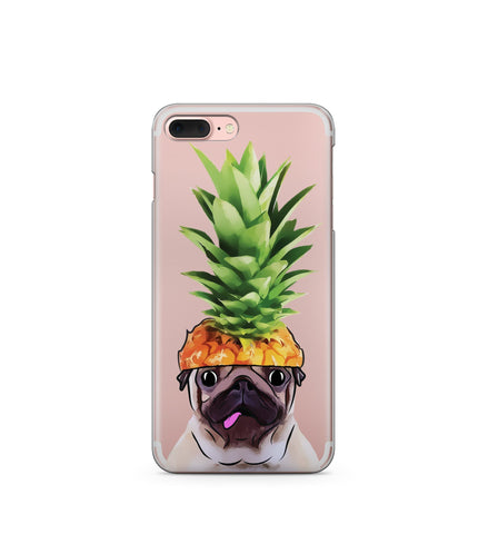 """CLEARANCE"" iPhone 6 Clear TPU Case Cover - Pineapple Pug"