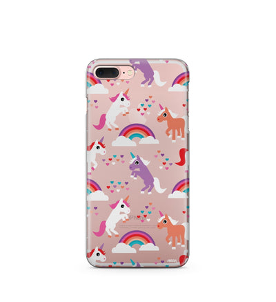 """CLEARANCE"" iPhone 6 Clear Case Cover - Rainbows and Unicorns - Milkyway Cases -  iPhone - Samsung - Clear Cute Silicone Phone Case Cover"