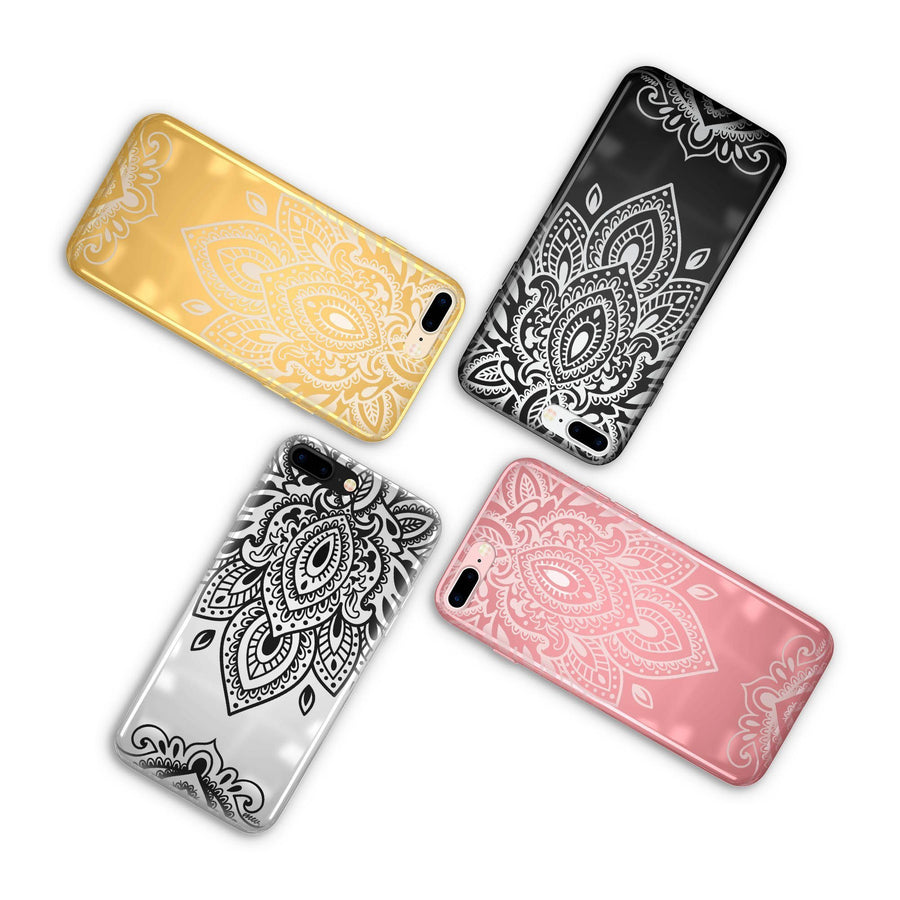 Chrome Shiny Sanskrit Mandala iPhone Case - Milkyway Cases -  iPhone - Samsung - Clear Cut Silicone Phone Case Cover