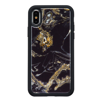 MARQUINA REAL MARBLE TPU Case Milkyway iPhone Samsung Clear Cute Silicone 8 Plus 7 X Cover