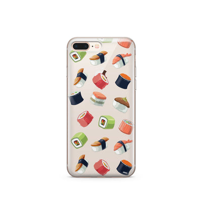 Sushi Lover - Clear Case Cover - Milkyway Cases -  iPhone - Samsung - Clear Cut Silicone Phone Case Cover