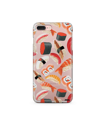 """CLEARANCE"" iPhone 6 Clear TPU Case Cover - Sushi Pandemonium"
