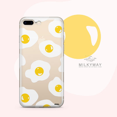 Sunny Side Up - Clear Case Cover - Milkyway Cases -  iPhone - Samsung - Clear Cut Silicone Phone Case Cover