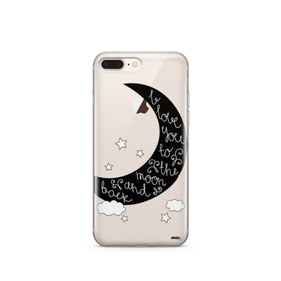 To The Moon And Back - Clear TPU Case Cover - Milkyway Cases -  iPhone - Samsung - Clear Cut Silicone Phone Case Cover