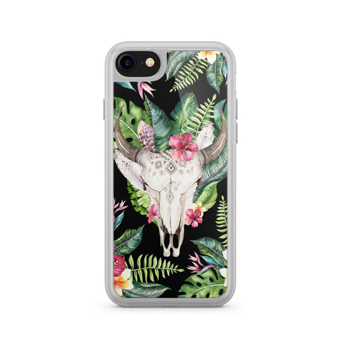 Premium Milkyway iPhone Case - Tropical Boho Skull