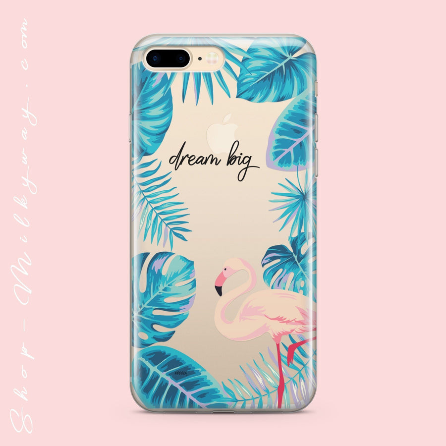 Tropical Dreams - Clear Case Cover - Milkyway Cases -  iPhone - Samsung - Clear Cut Silicone Phone Case Cover