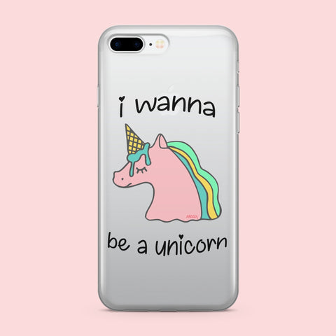 'Wanna Be - Clear TPU Case Cover