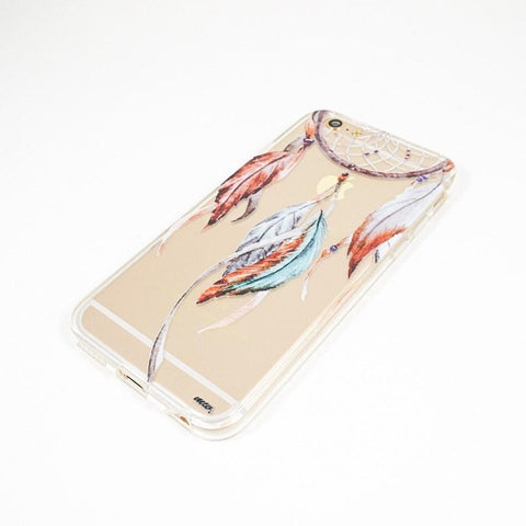 Watercolor Dreamcatcher - Clear TPU Case Cover