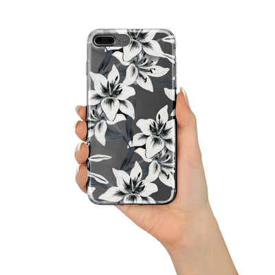Walercolor Lilies - Clear TPU Case Cover - Milkyway Cases -  iPhone - Samsung - Clear Cut Silicone Phone Case Cover