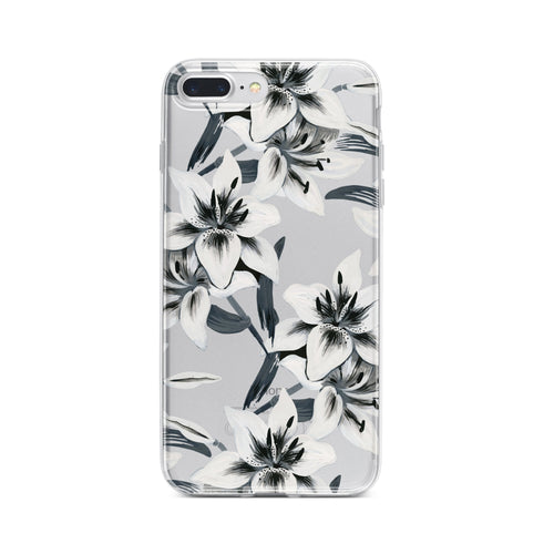 Walercolor Lilies - Clear TPU Case Cover