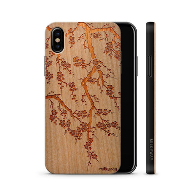 Cherry Blossom Wood Case Phone Cover - Milkyway Cases