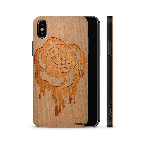 Wood  - Dripping Rose iphone x