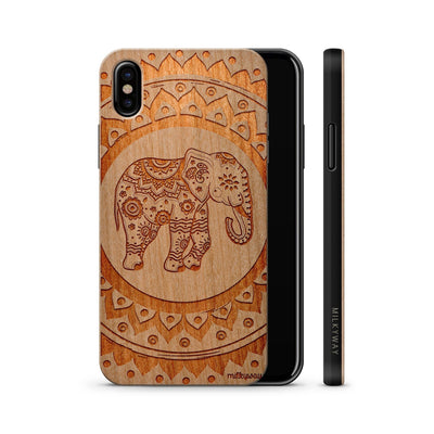 Wood  - Hindu Elephant iphone x