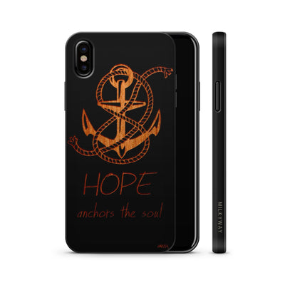 Wood  - Hope Anchors the Soul - Milkyway Cases -  iPhone - Samsung - Clear Cute Silicone Phone Case Cover
