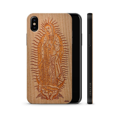 Wood  - Lady of Guadalupe iphone x