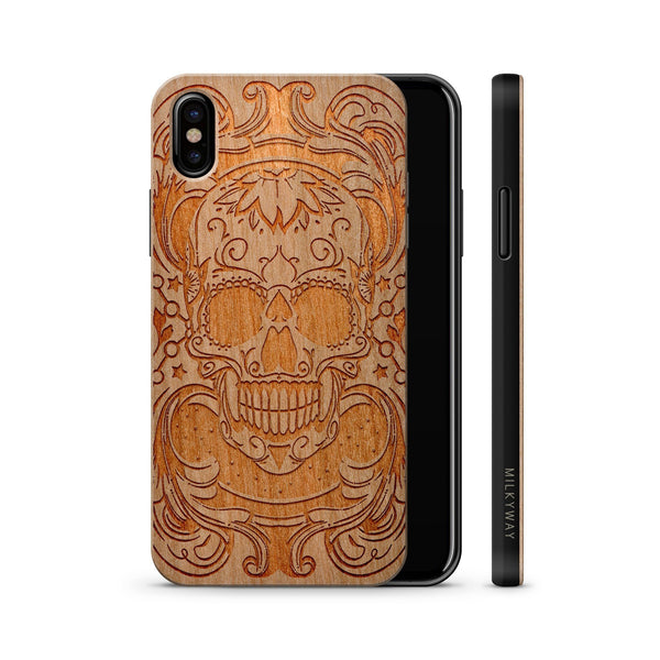 Wood  - Maniac Skull iphone x