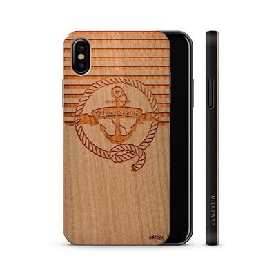 Wood  - Nautical Refuse to Sink iphone x