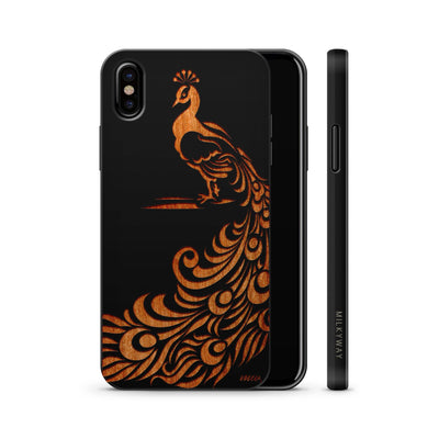 Wood  - Peacock - Milkyway Cases -  iPhone - Samsung - Clear Cute Silicone Phone Case Cover