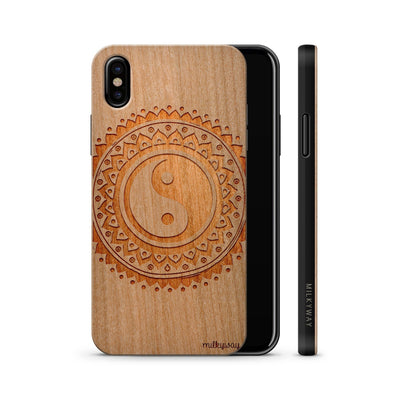 HANGING FEATHERS wood iphone case x