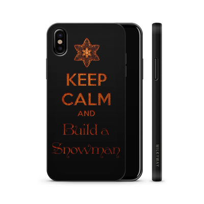 Wood  - Keep Calm and Build a Snowman - Milkyway Cases -  iPhone - Samsung - Clear Cute Silicone Phone Case Cover