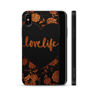 Wood  - Love Life - Milkyway Cases -  iPhone - Samsung - Clear Cute Silicone Phone Case Cover