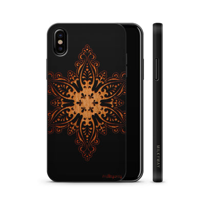Wood  - Snowflake - Milkyway Cases -  iPhone - Samsung - Clear Cute Silicone Phone Case Cover