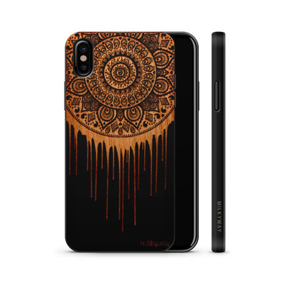 Wood  - Dripping Dreamcatcher - Milkyway Cases -  iPhone - Samsung - Clear Cute Silicone Phone Case Cover