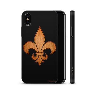 Wood  - Fleur De Lis - Milkyway Cases -  iPhone - Samsung - Clear Cute Silicone Phone Case Cover